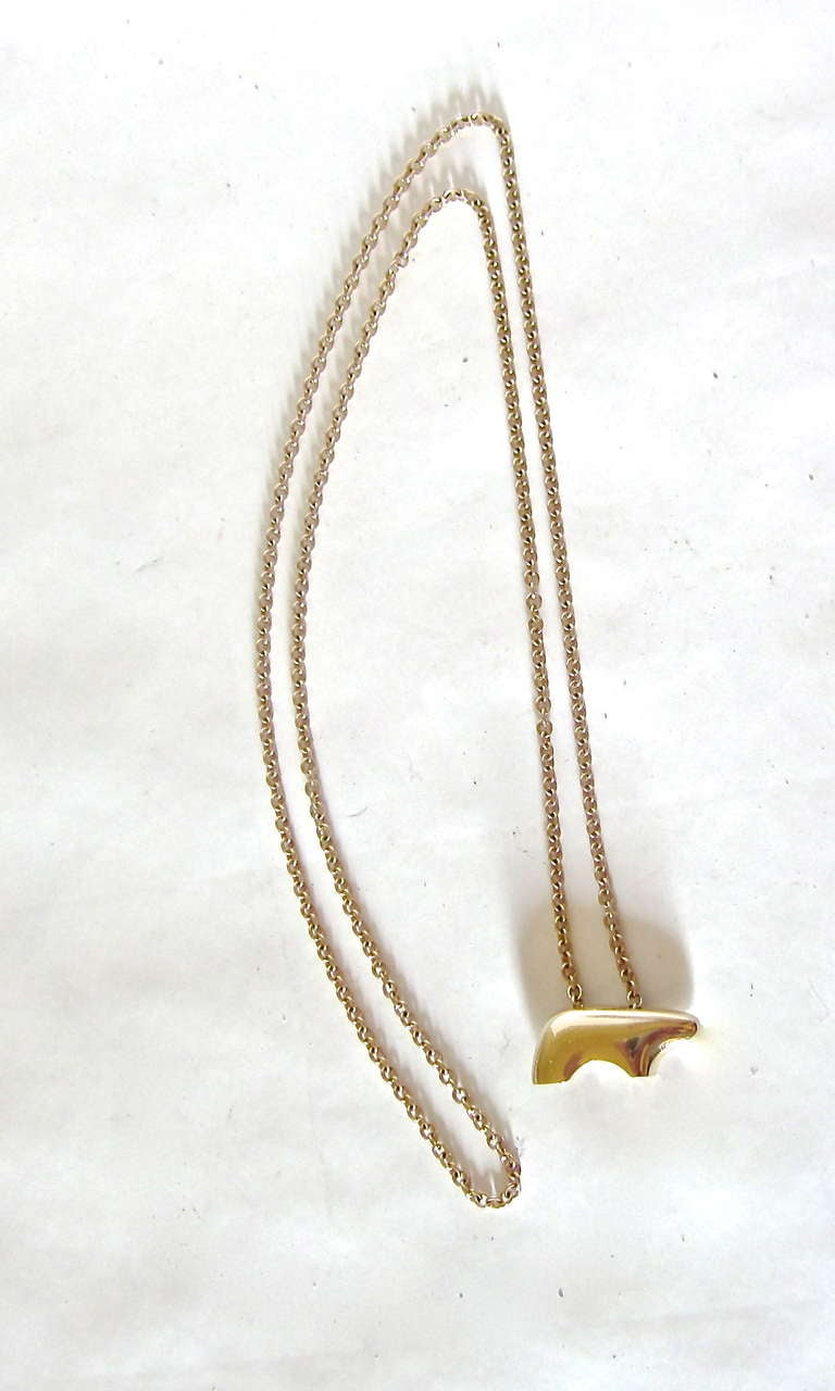 14 K Gold Necklace by The Golden Bear, Vail 2
