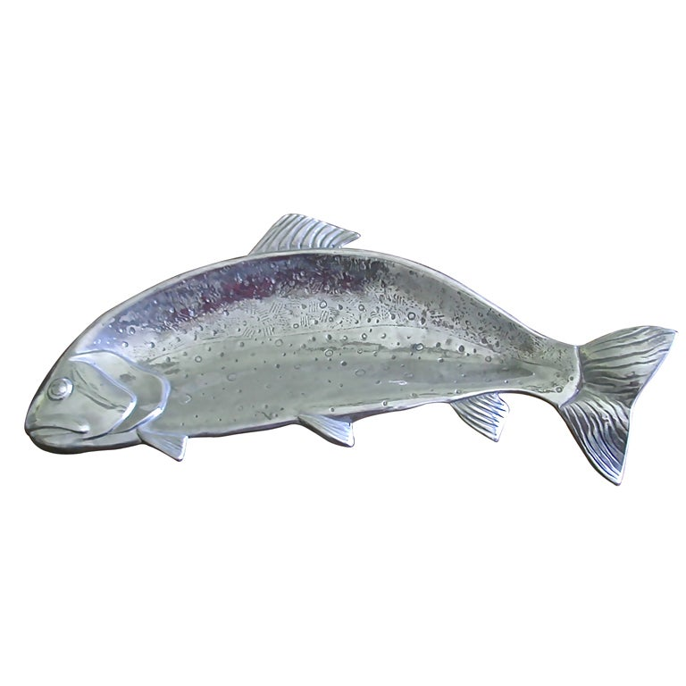 Rainbow Trout Serving Dish By Bruce Fox At 1stdibs