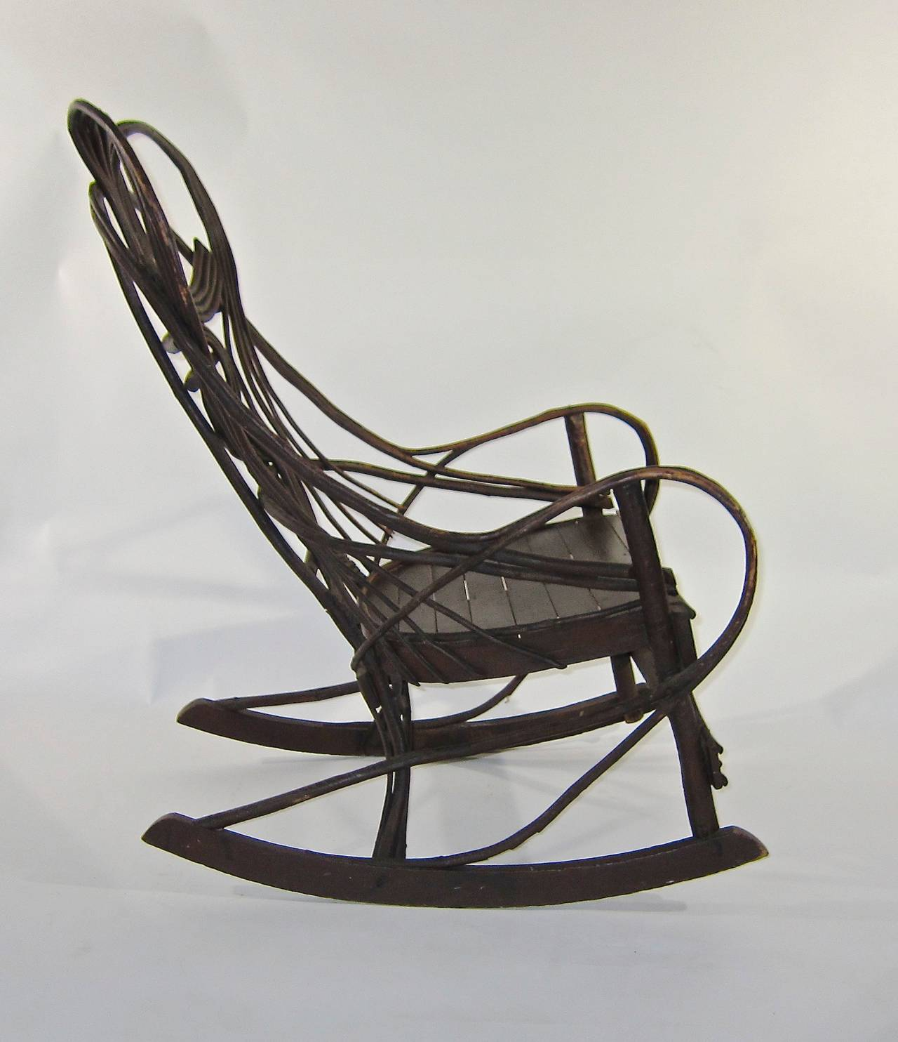American Bentwood Twig Rocking Chair at 1stdibs