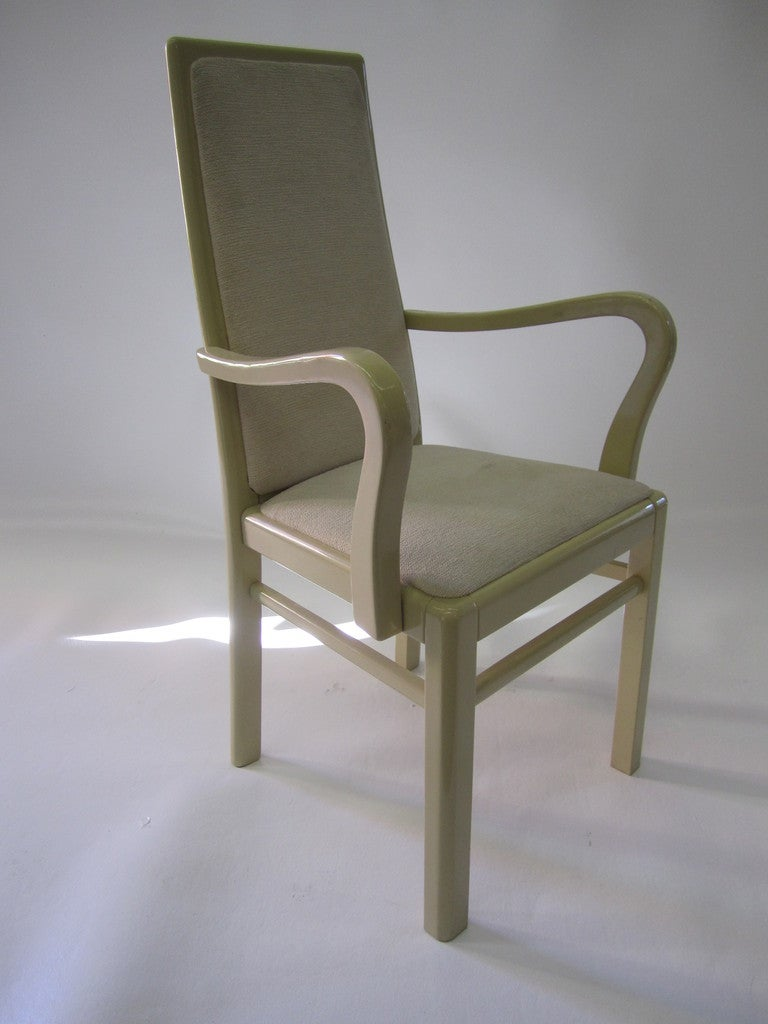 italian dining chairs in eggshell lacquer set of twelve for sale at