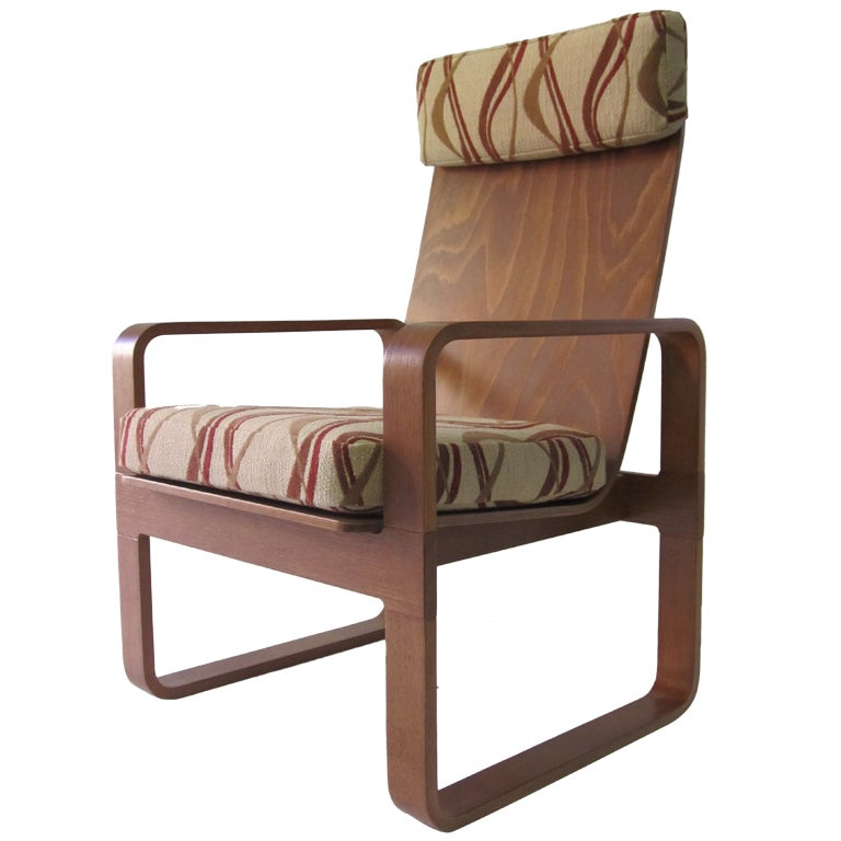 Mid Century Sled Base Chair By Thonet At 1stdibs