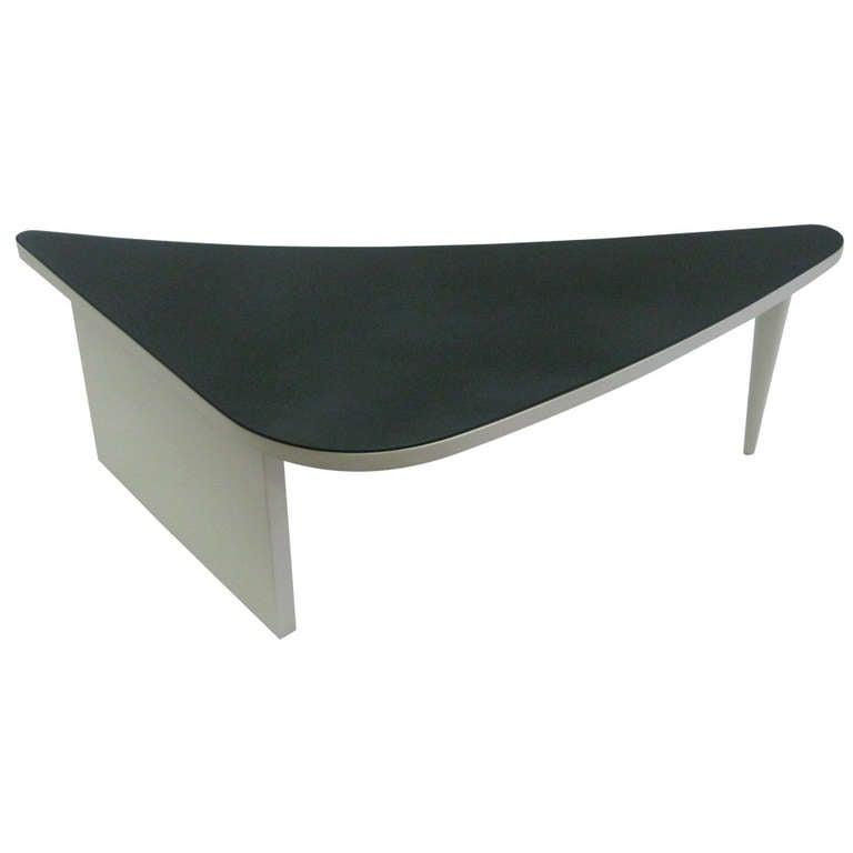 Unusual Triangular Cocktail Table At 1stdibs