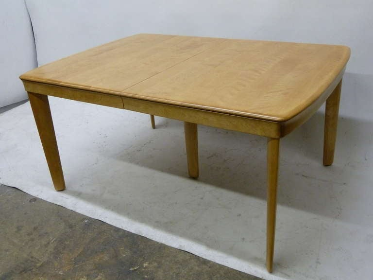 Heywood Wakefield Solid Maple Dining Table At 1stdibs