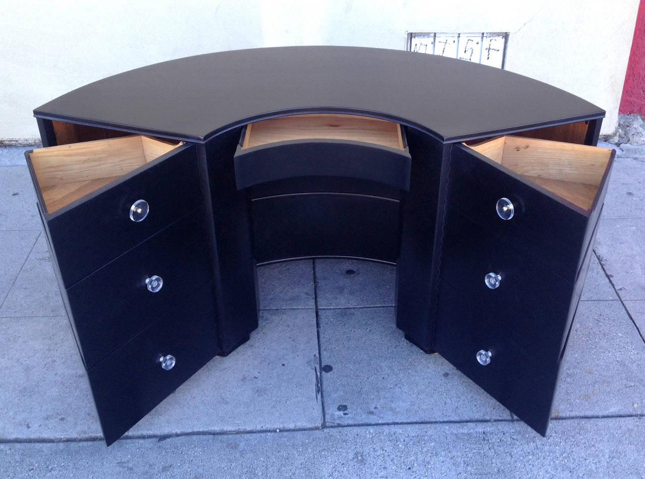 Half Circle Desk With Exterior Shelves At 1stdibs
