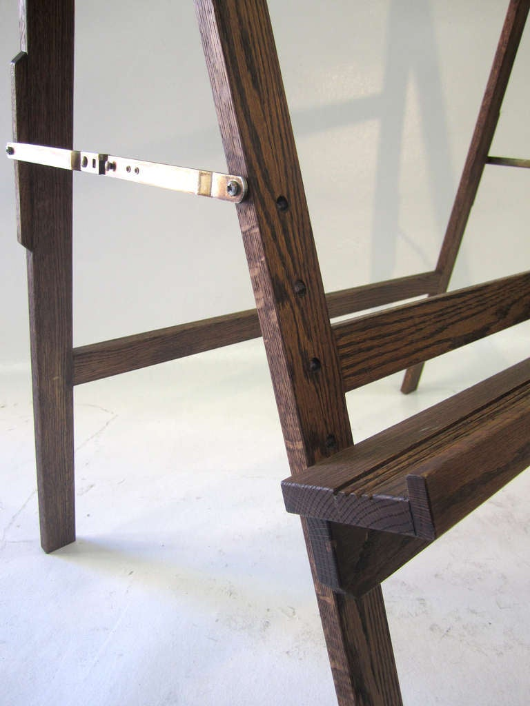 Wood Large Mid-Century Modern Easel For Sale
