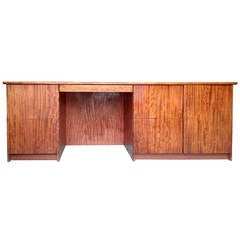 Gerald McCabe Large and Narrow Console Desk in Gorgeous Bubinga Wood
