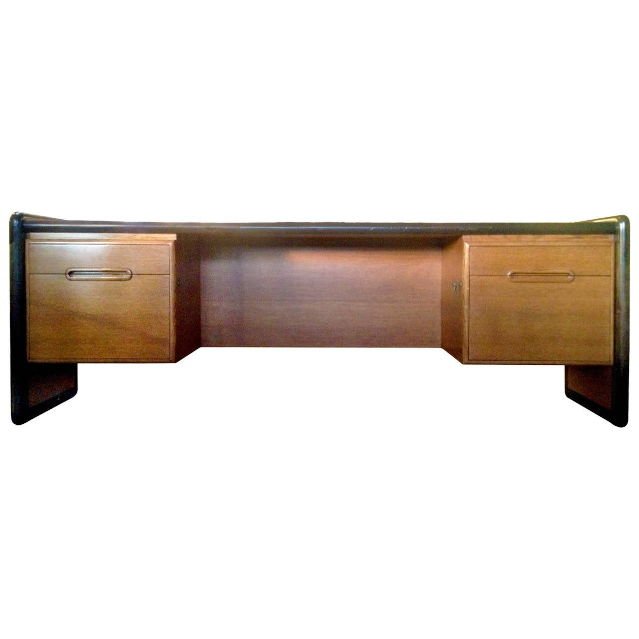 Two tone monteverdi young desk / console for sale at 1stdibs