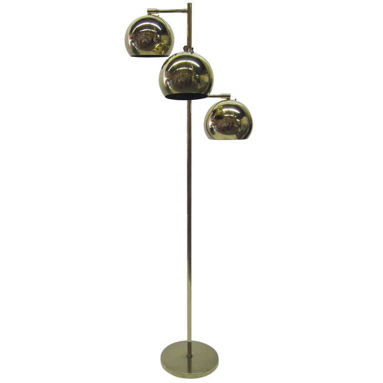 Three tier brass floor lamp by robert sonneman at 1stdibs for 3 tier floor lamp