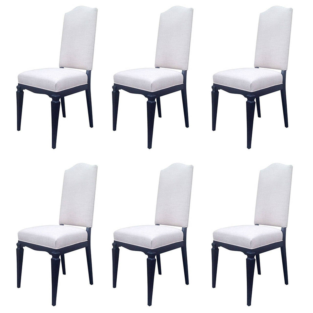 Set Of Six Elegant Dining Chairs Attributed To Andr Arbus At 1stdibs