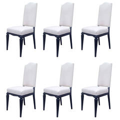 Set of Six Elegant Dining Chairs Attributed to André Arbus
