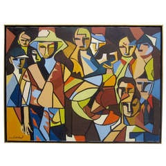 Abstract / Cubist Painting Signed Callahan
