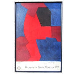 1972 Munich Olympics Art Series Original Lithographic Poster by Serge Poliakoff