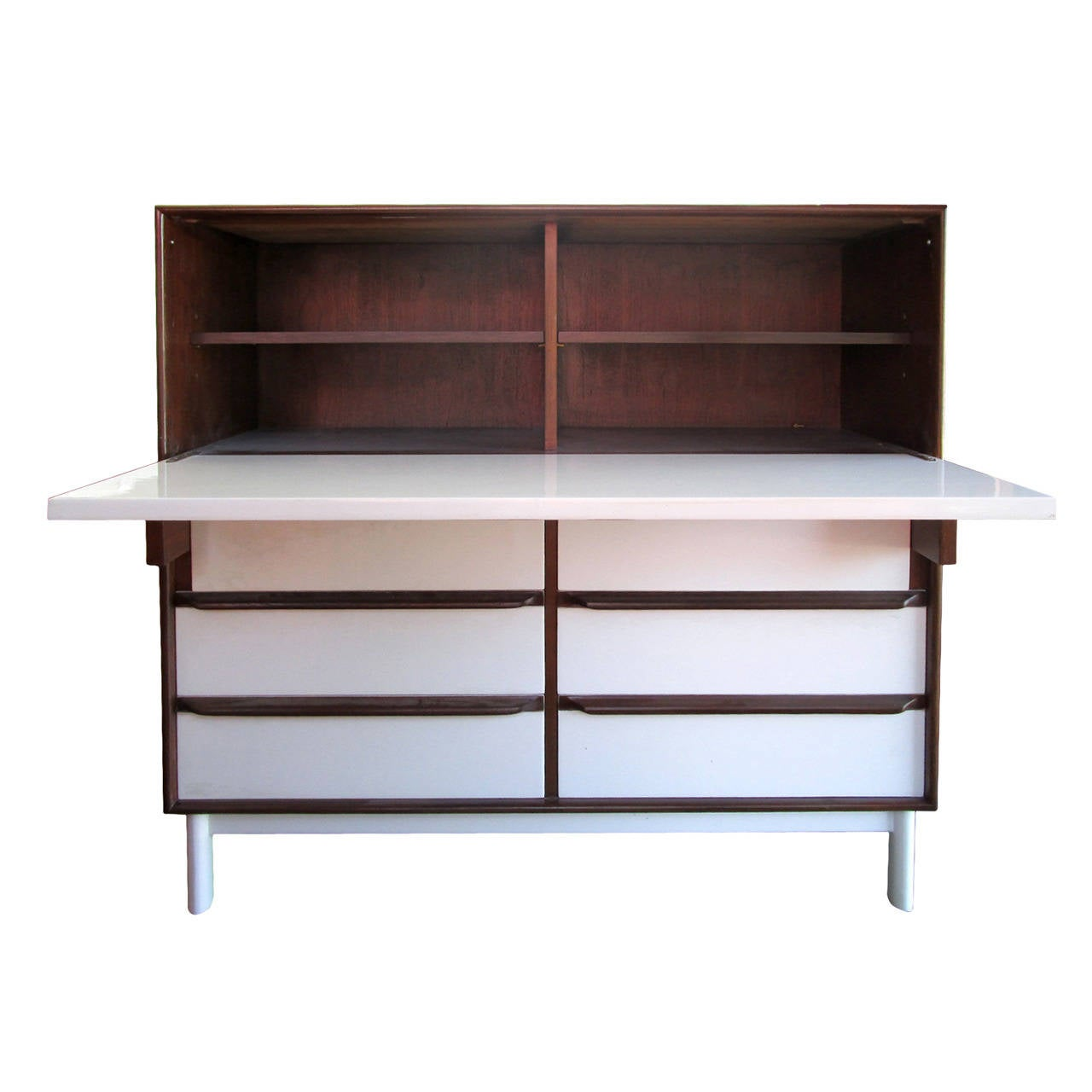 mid century modern cabinet or secretaire at 1stdibs. Black Bedroom Furniture Sets. Home Design Ideas