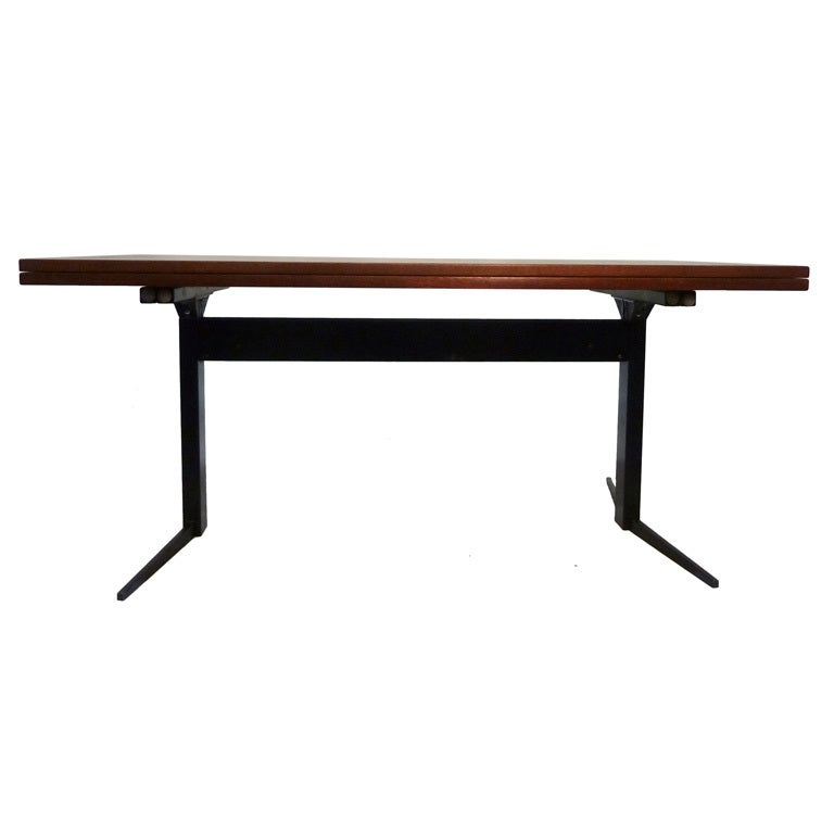 French 50s Extendable Coffee Dining Table At 1stdibs