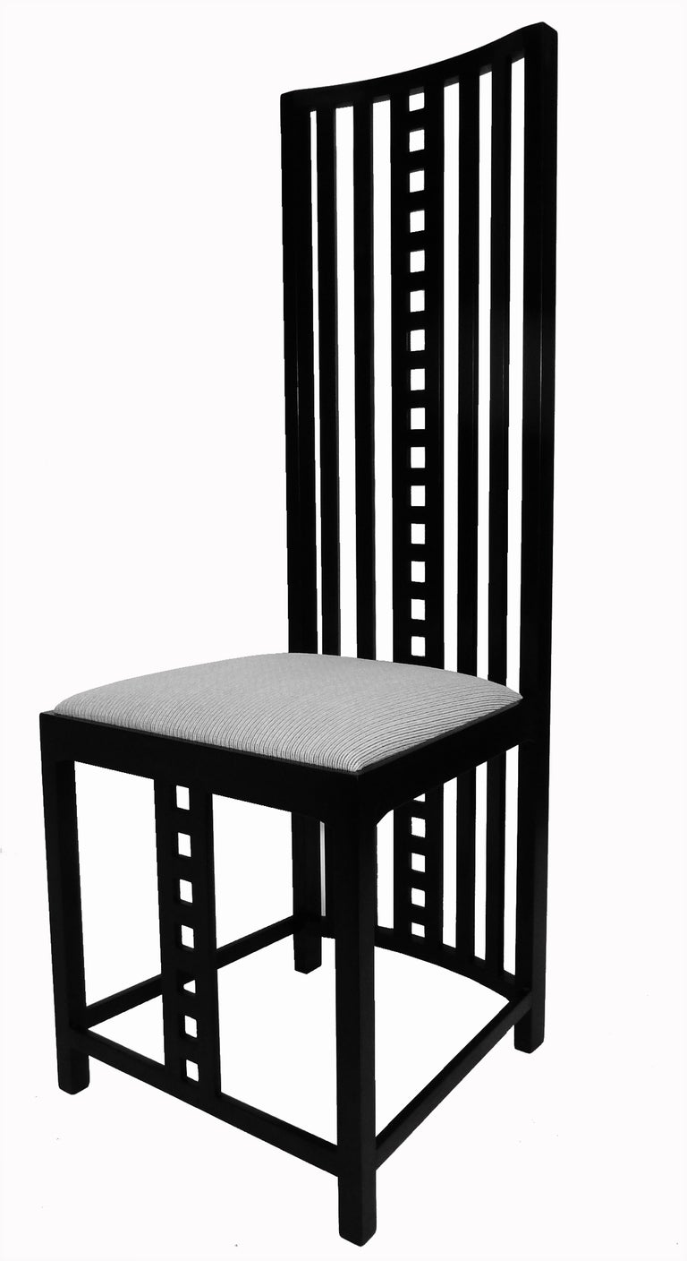 charles rennie mackintosh hill house chairs set of eight at 1stdibs. Black Bedroom Furniture Sets. Home Design Ideas