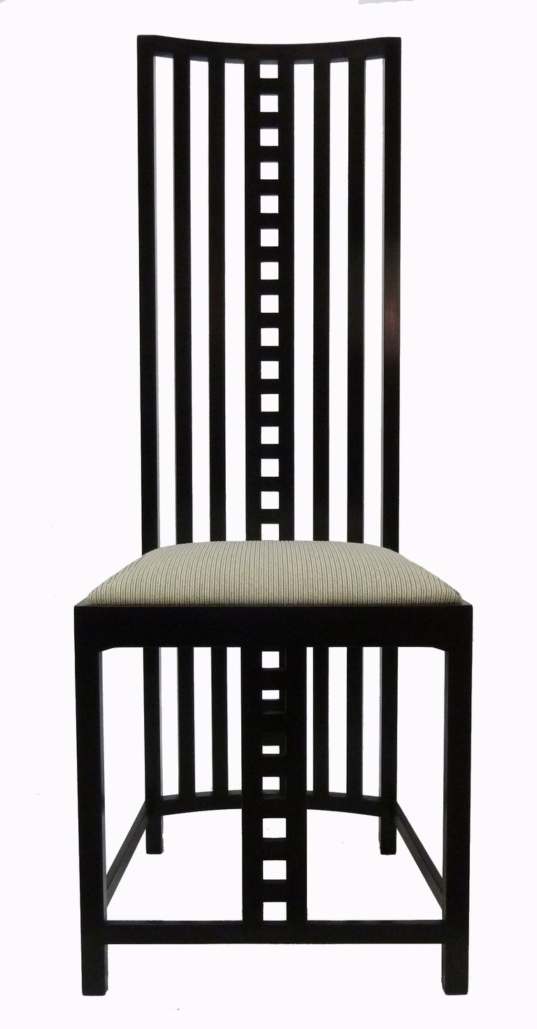 Charles Rennie Mackintosh Hill House Chairs Set Of Eight