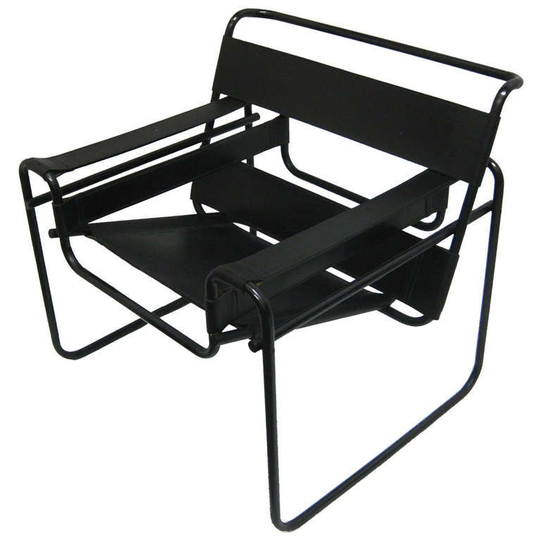 Wassily lounge chair with rare black frame at 1stdibs - Wassily chair price ...