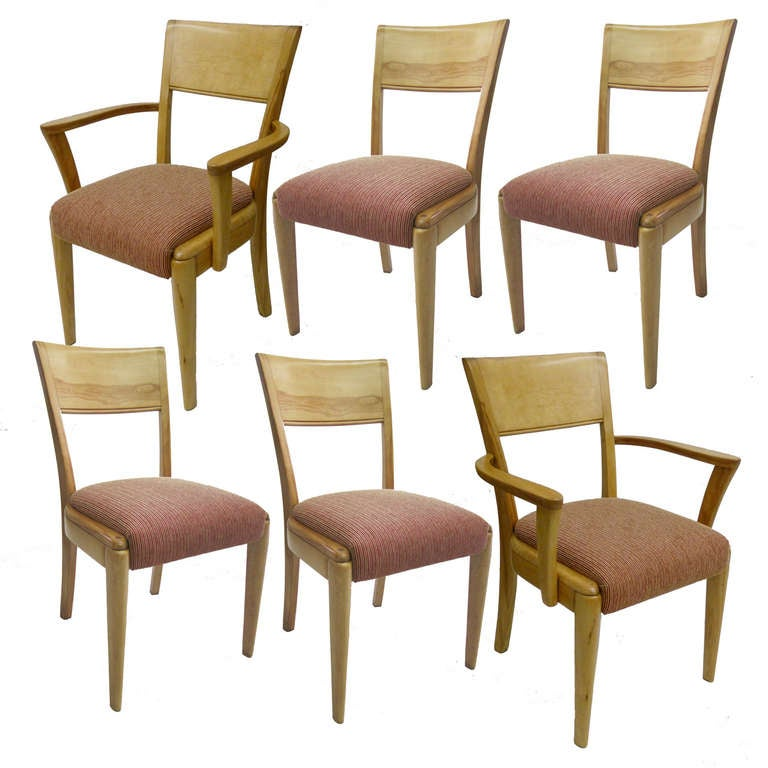 Heywood wakefield dining chairs set of 6 at 1stdibs for Dining room chairs set of 6