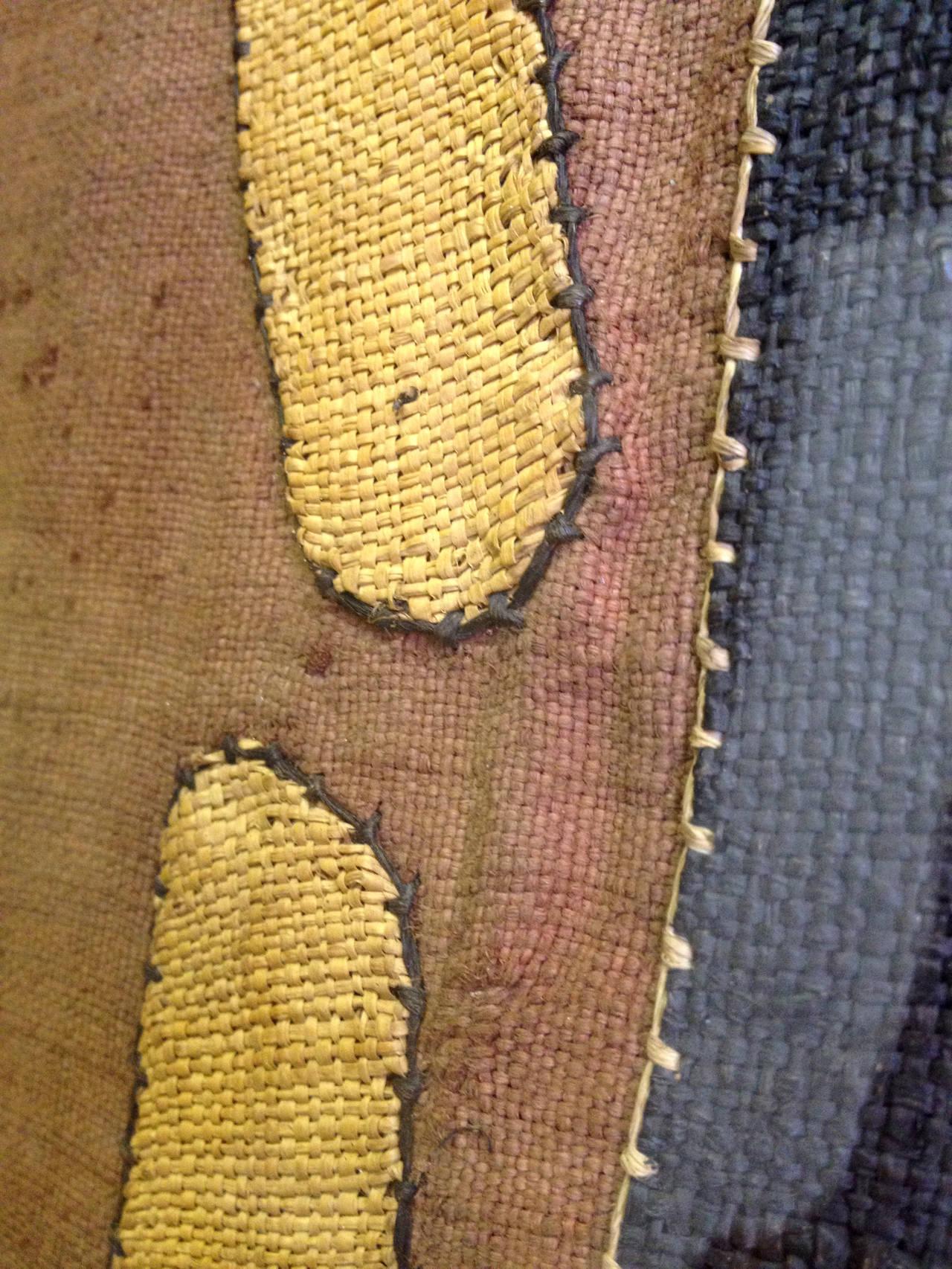 Congolese Impressive Large African Kuba Cloth, Framed