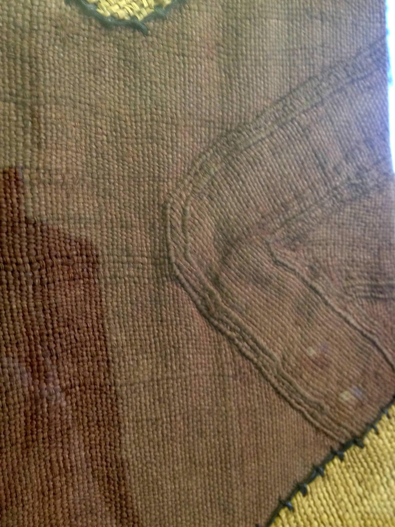 20th Century Impressive Large African Kuba Cloth, Framed