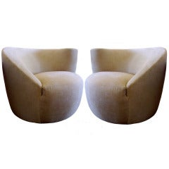 Nautilus Chairs by Vladimir Kagan for Directional, Pair