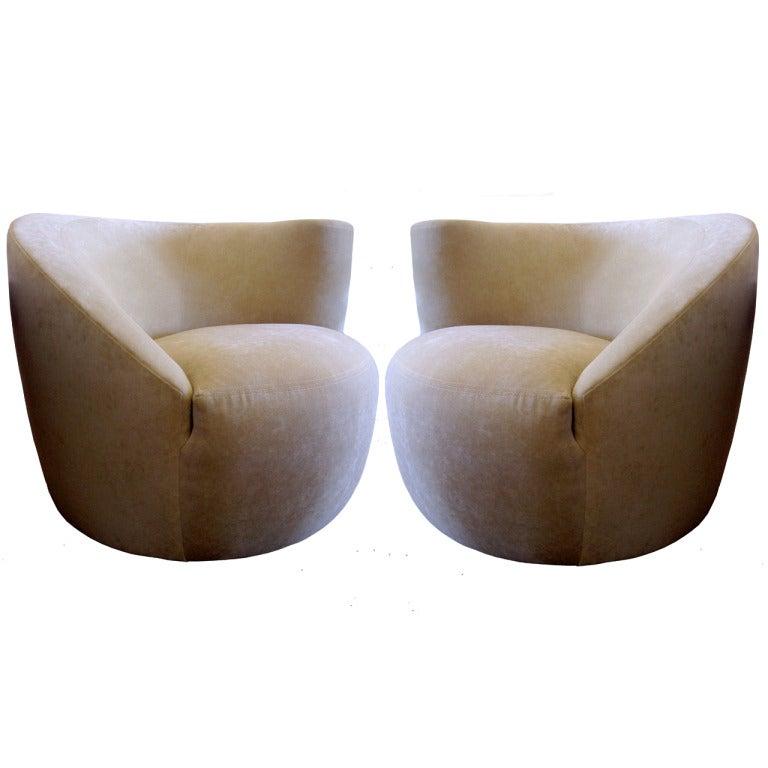 Nautilus Chairs By Vladimir Kagan For Directional, Pair 1