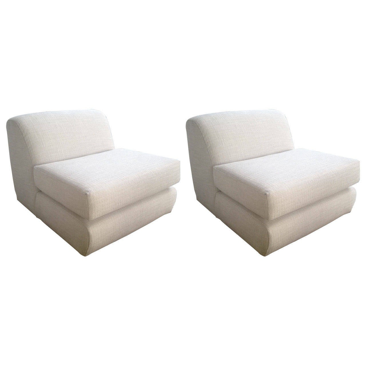 Pair of Steve Chase Slipper Chairs at 1stdibs