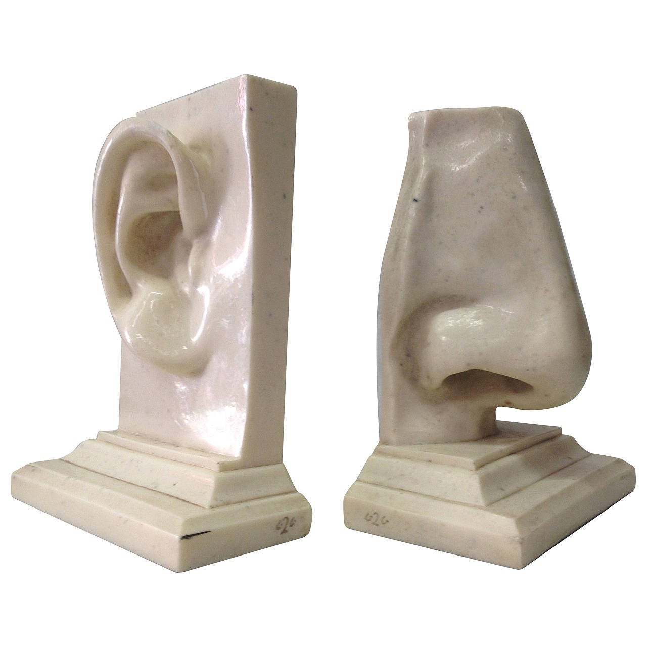 pair of italian figural resin bookends at stdibs - pair of italian figural resin bookends