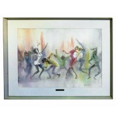Watercolor of Dancers