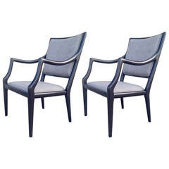 Pair of Armchairs with Sculptural Frame by Jamestown Lounge Co.