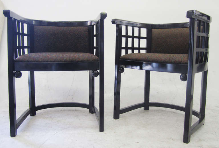 Barrel-Back Dining Chairs by Josef Hoffmann, Set of Four ...