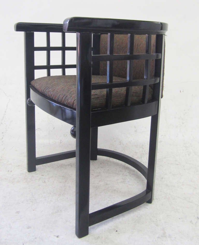 barrel back dining chairs by josef hoffmann set of four