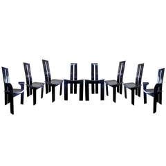 Sleek Pietro Costantini Dining Chairs, Set of Eight