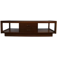 Architectonic Walnut Coffee Table by Lane