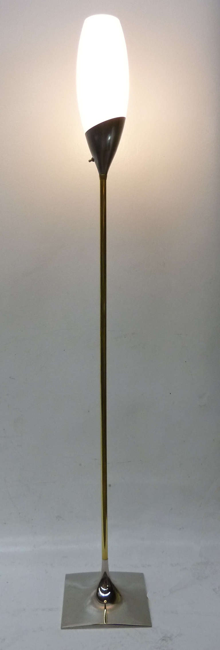 MId-Century Modern Floor Lamp by Gerald Thurston for ...