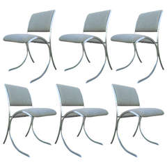Chic French Dining Chairs by Maison Jansen, Set of Six
