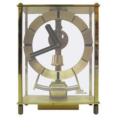 Mid-Century Brass Skeleton Clock by Kundo