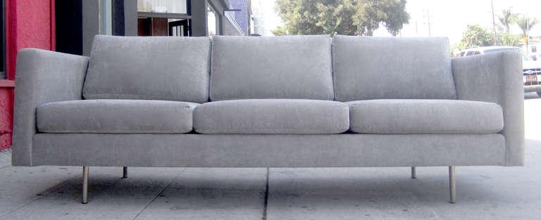 Minimal Tuxedo Sofa by Milo Baughman for Thayer Coggin at 1stdibs