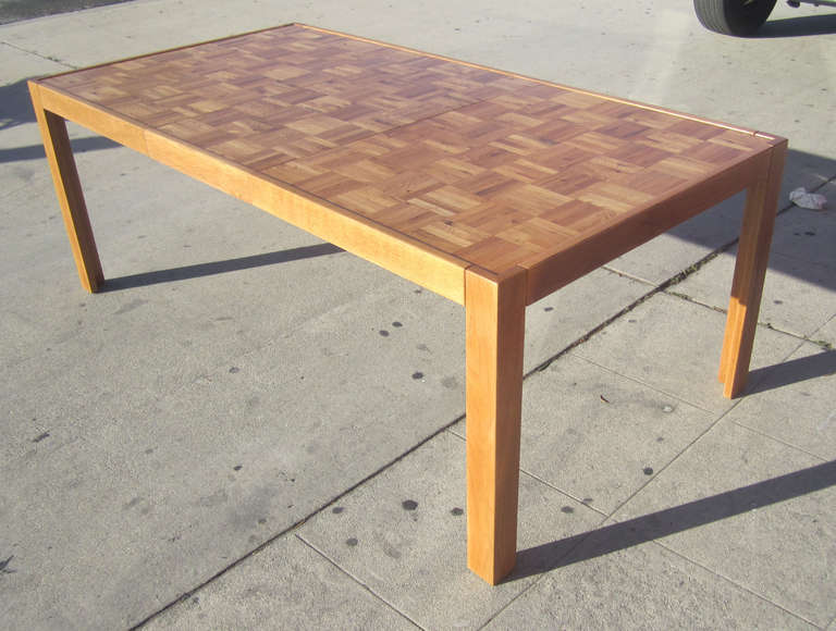 Attractive Parquet-Top Parsons Table at 1stdibs XP37