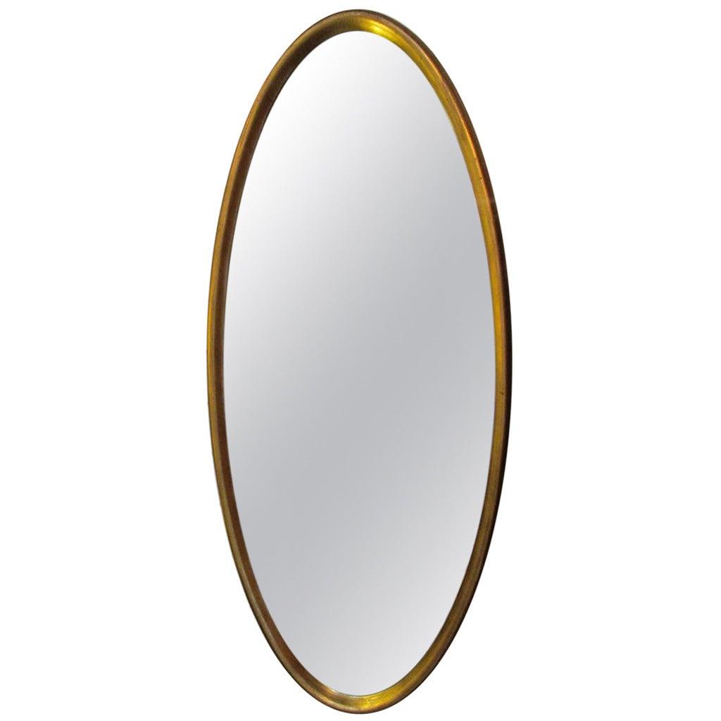 Elegant oval gilt mirror at 1stdibs for Elegant mirrors