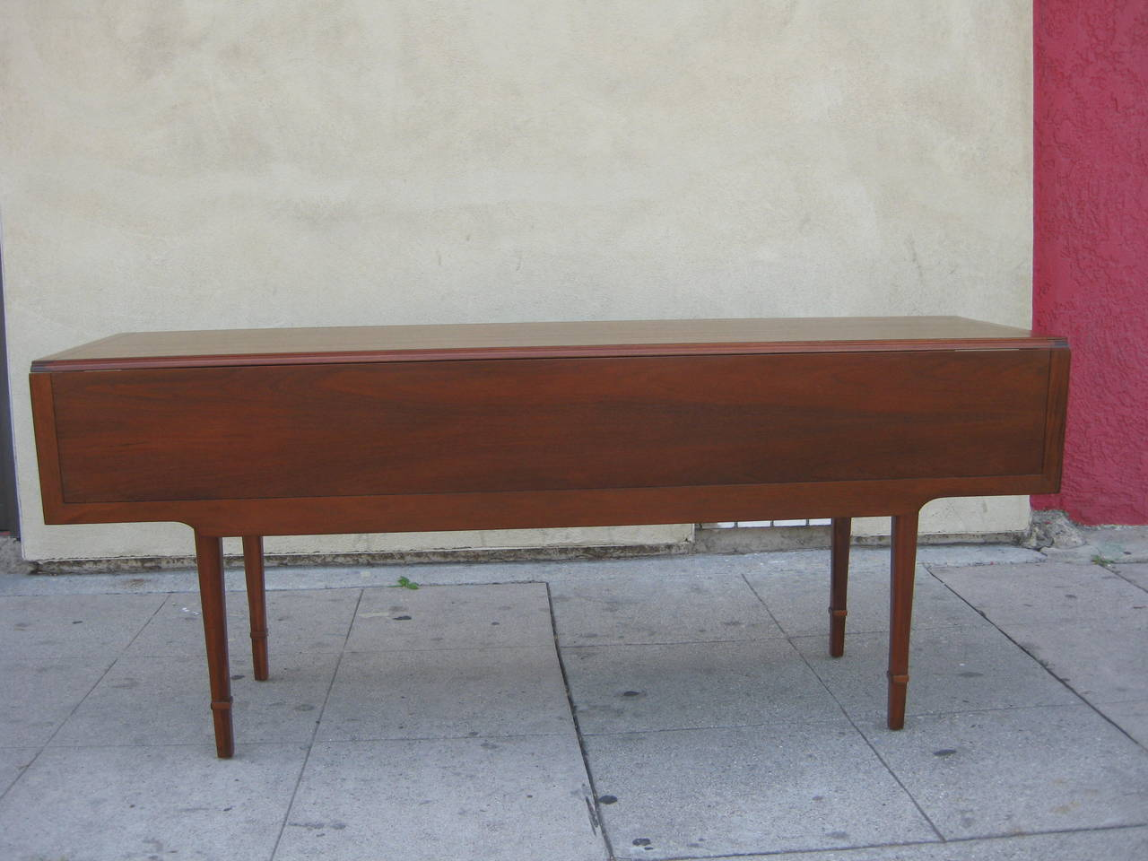 Walnut Drop Leaf Dining or Console Table by Drexel at 1stdibs : IMG2370l from www.1stdibs.com size 1280 x 960 jpeg 113kB