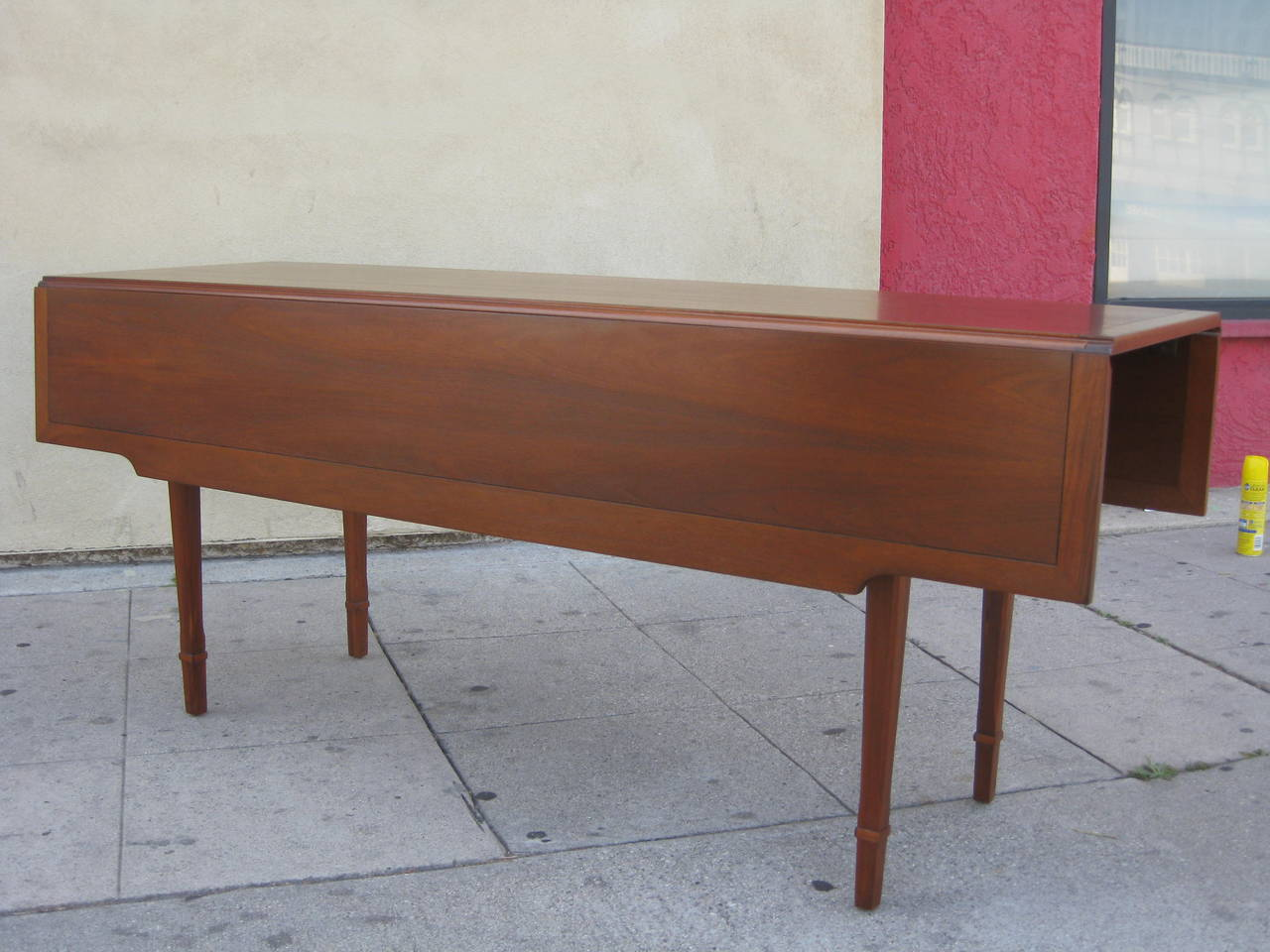 Walnut Drop Leaf Dining or Console Table by Drexel at 1stdibs : IMG2387l from 1stdibs.com size 1280 x 960 jpeg 118kB
