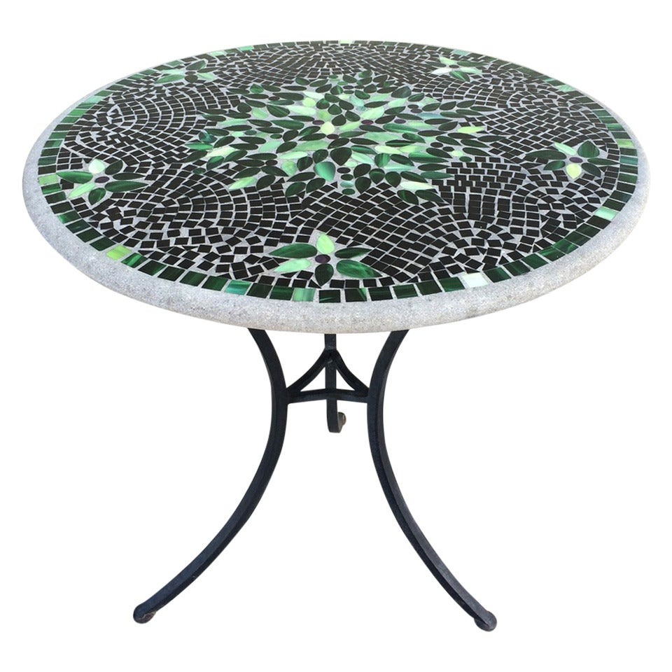 Charming Outdoor Mosaic Patio Table At 1stdibs