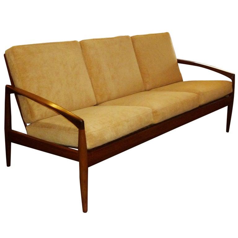 Mid century danish modern sofa by kai kristiensen at 1stdibs for Danish modern sofas