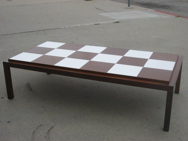 Checkerboard Top Coffee Table By Lane At 1stdibs