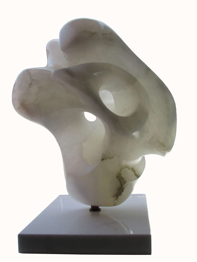 Amorphous Alabaster Sculpture Attributed to Ilona Passino 2