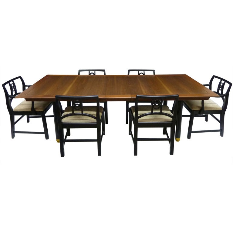 handsome dining room set by michael taylor for baker at