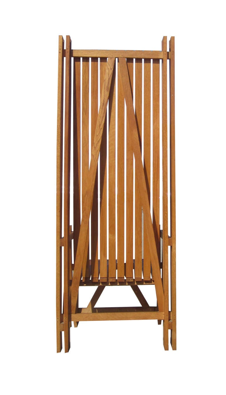 20th Century Architectonic Chair in Teak For Sale