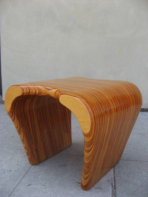 Stacking plywood side table at 1stdibs for Small stackable coffee tables