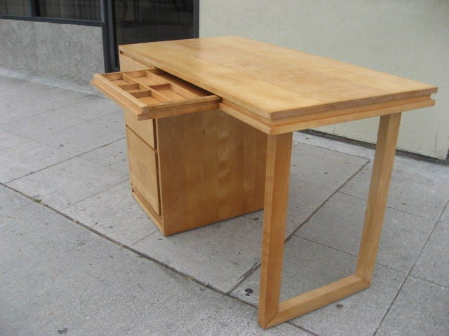 Maple Desk by Russel Wright for Conant Ball at 1stdibs